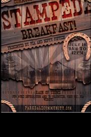 PCA & Nifty Fifties Stampede Breakfast 2016