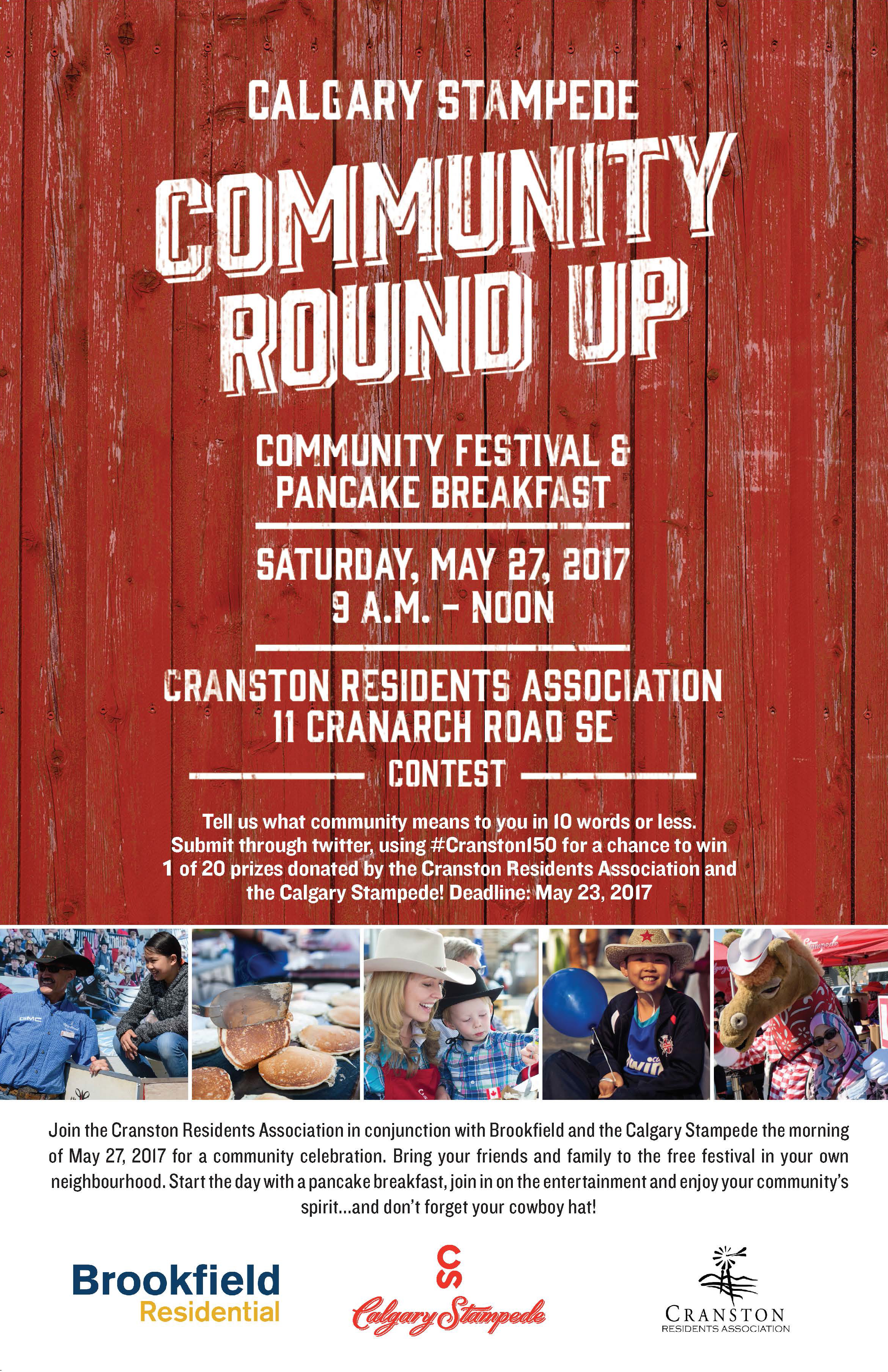 Calgary Stampede Community Round Up in Cranston 2017