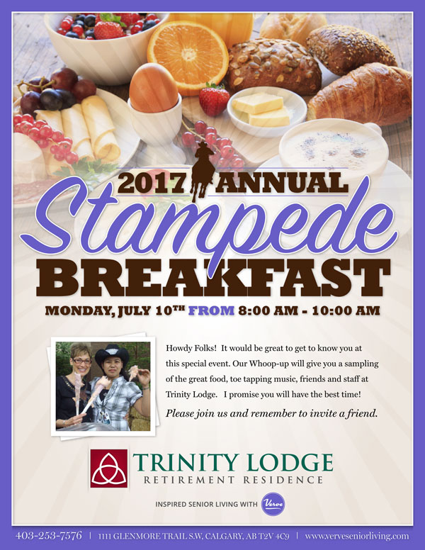 Trinity Senior Lodge Stampede Breakfast 2017