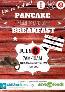 Stampede Kick-Off Pancake Breakfast