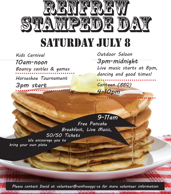 Renfrew Community Association Stampede Breakfast 2017