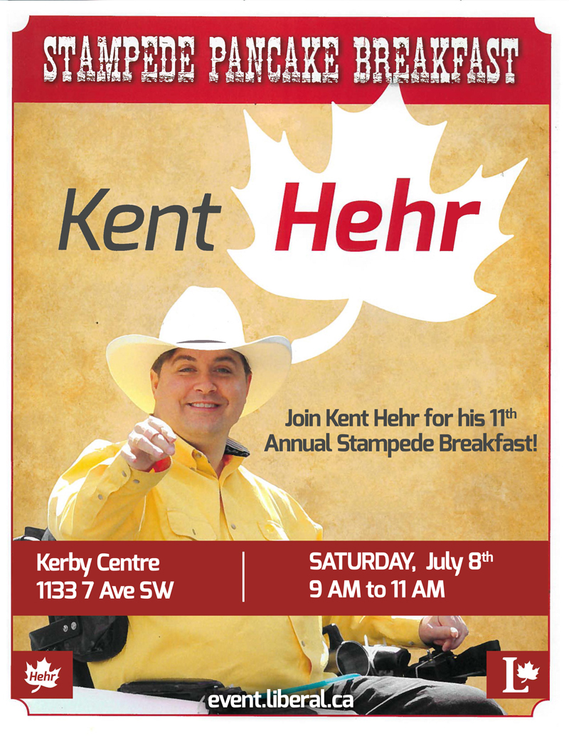 Kent Hehr, MP Annual Stampede Breakfast 2017