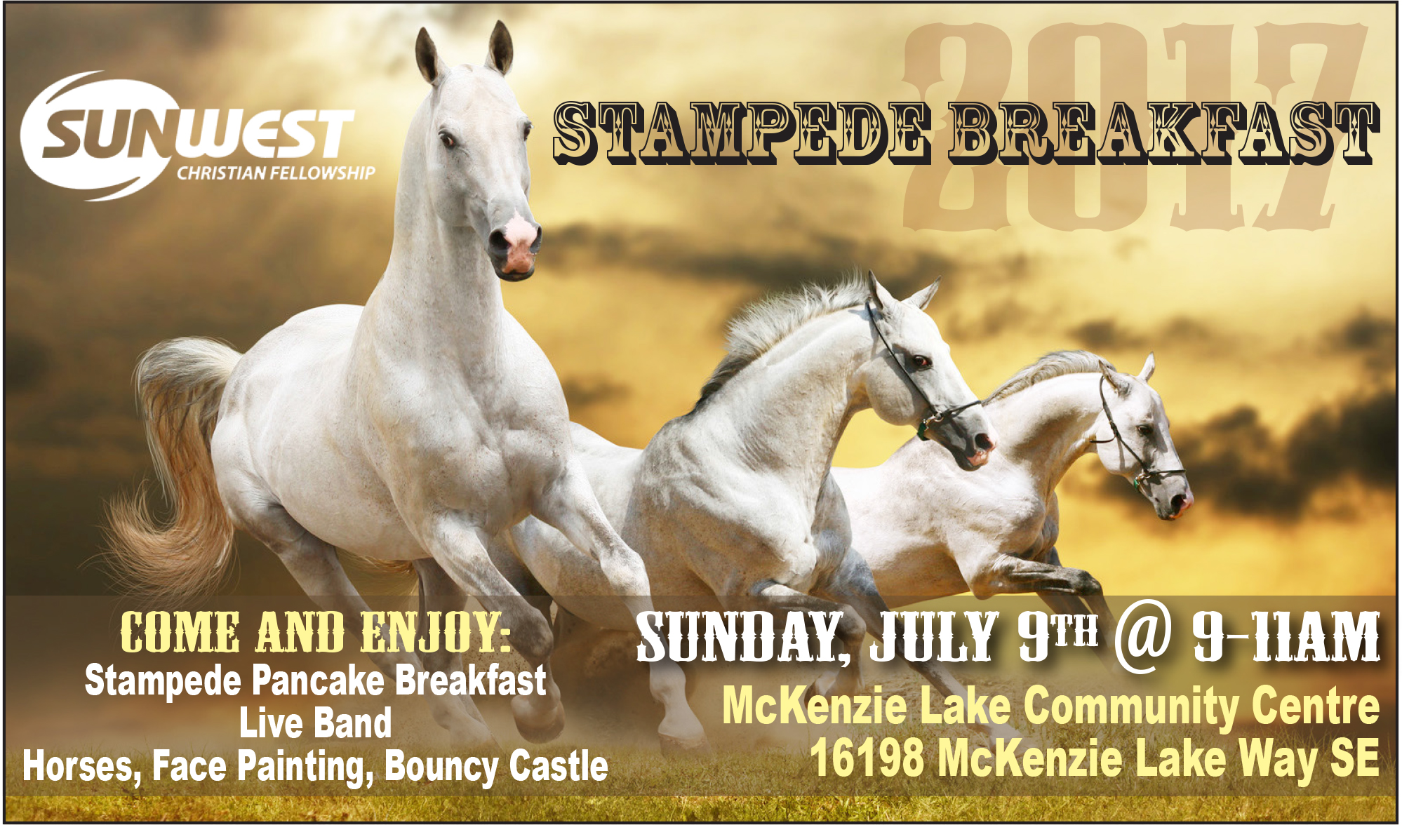 Free Stampede Breakfast Sunwest Church 2017