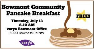 carya Bowmont Community Pancake Breakfast 2017