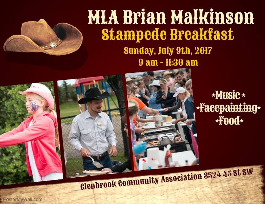 MLA Malkinson's Stampede Breakfast 2017