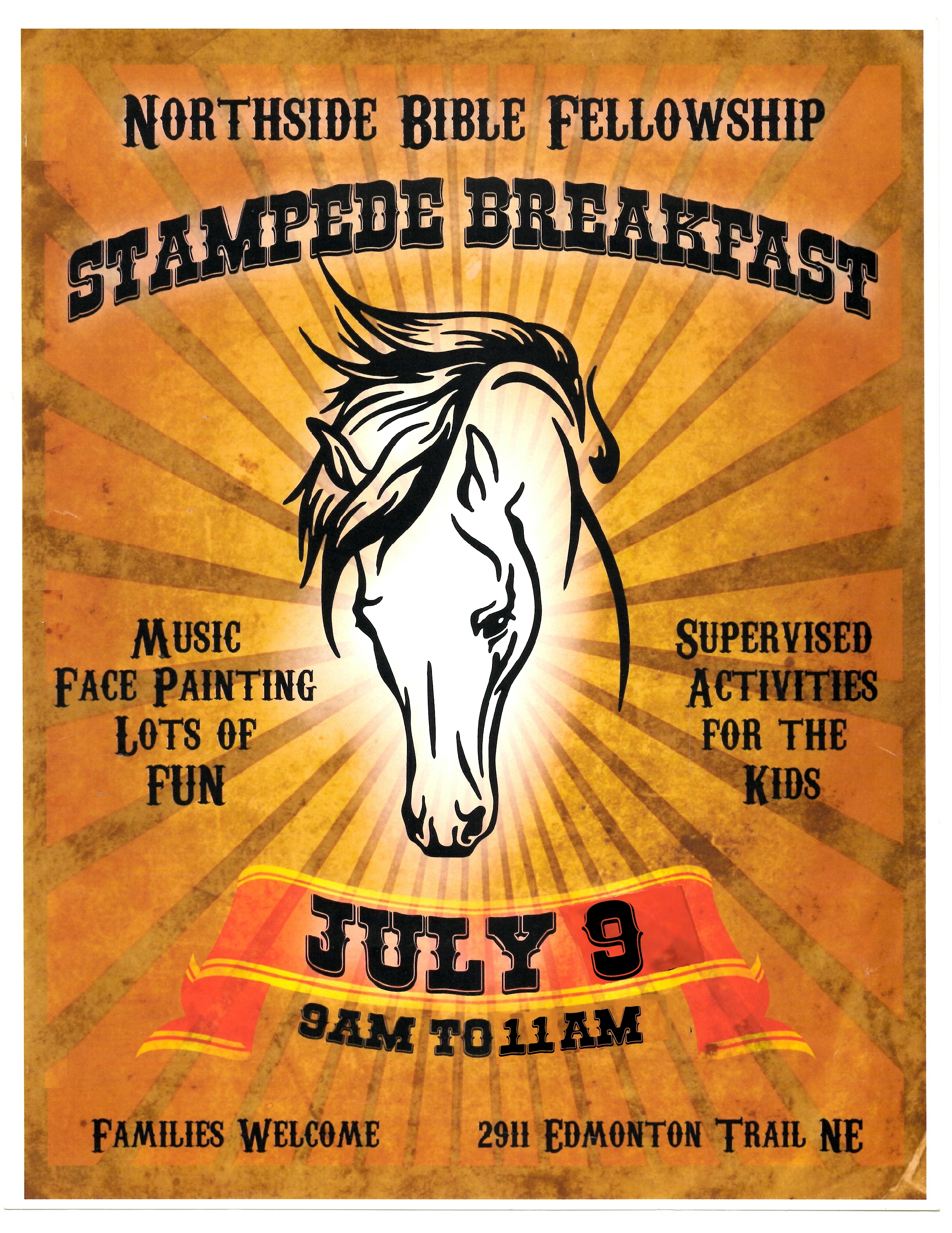 Northside Bible Fellowship Church Annual Stampede Breakfast 2017