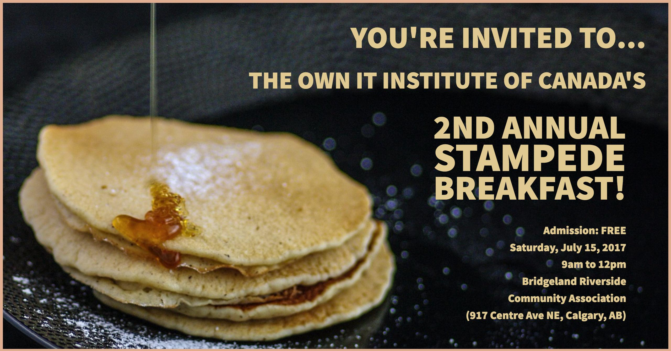 Own It's 2nd Annual Stampede Breakfast 2017