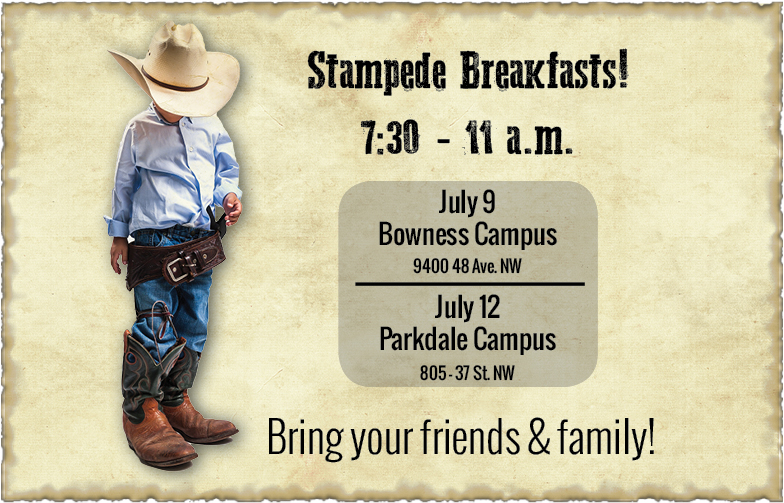 Bowness Campus Wood's Homes Stampede Breakfast 2017