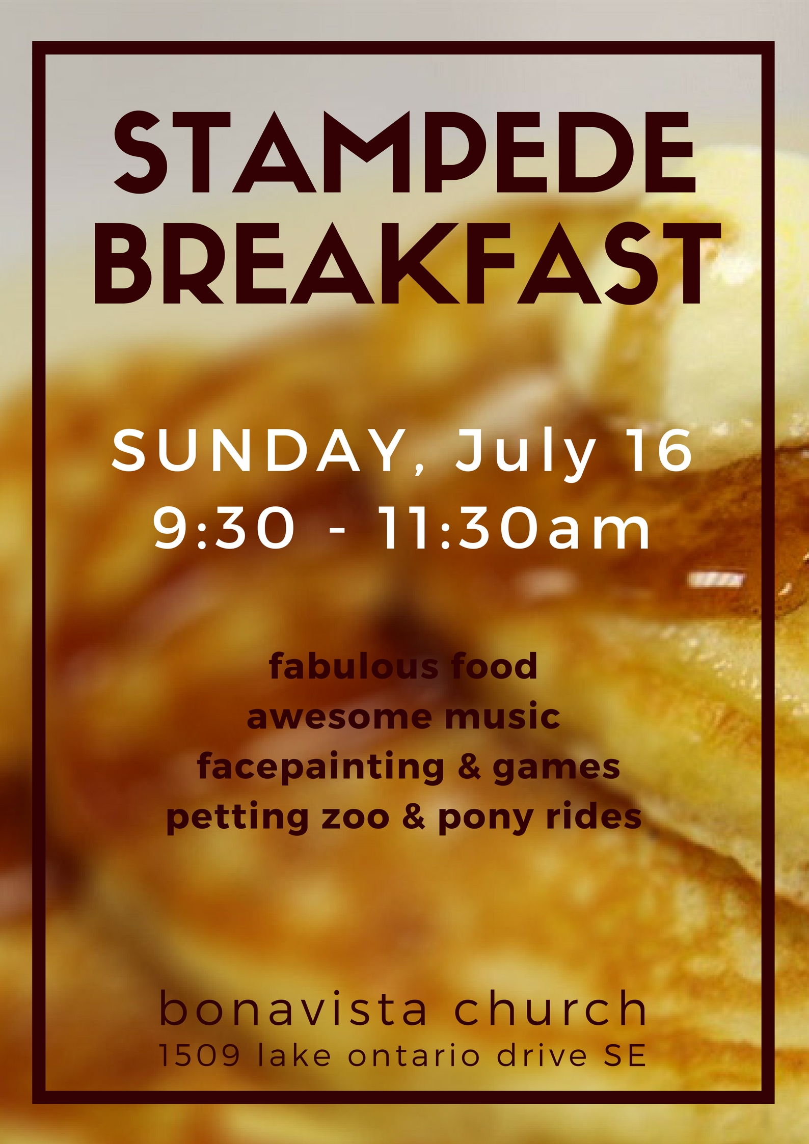 Bonavista Church Stampede Breakfast 2017