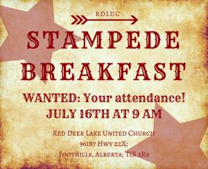 RDLUC Stampede Breakfast 2017