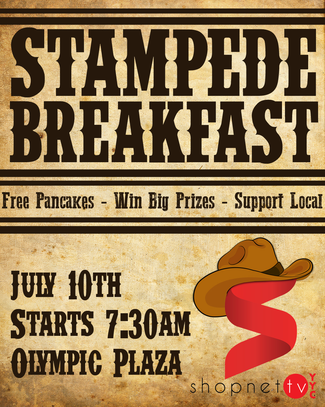 The ShopNetTV Stampede Breakfast! 2017