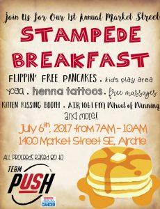 1st Annual Kingsview Market Stampede Breakfast 2017