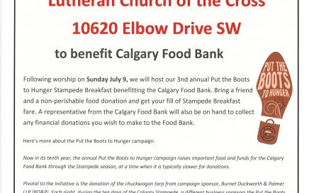Church of the Cross Stampede Breakfast 2017
