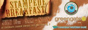 Greengate Garden Centres Stampede Breakfast 2017