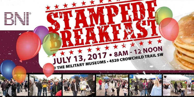 BNI Annual Stampede Breakfast & Fundraiser 2017