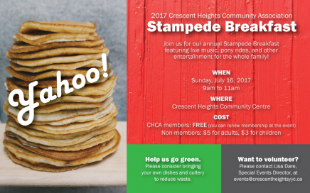 Crescent Heights Community Association Stampede Breakfast 2017