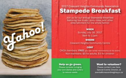 Crescent Heights Community Association Stampede Breakfast 2017