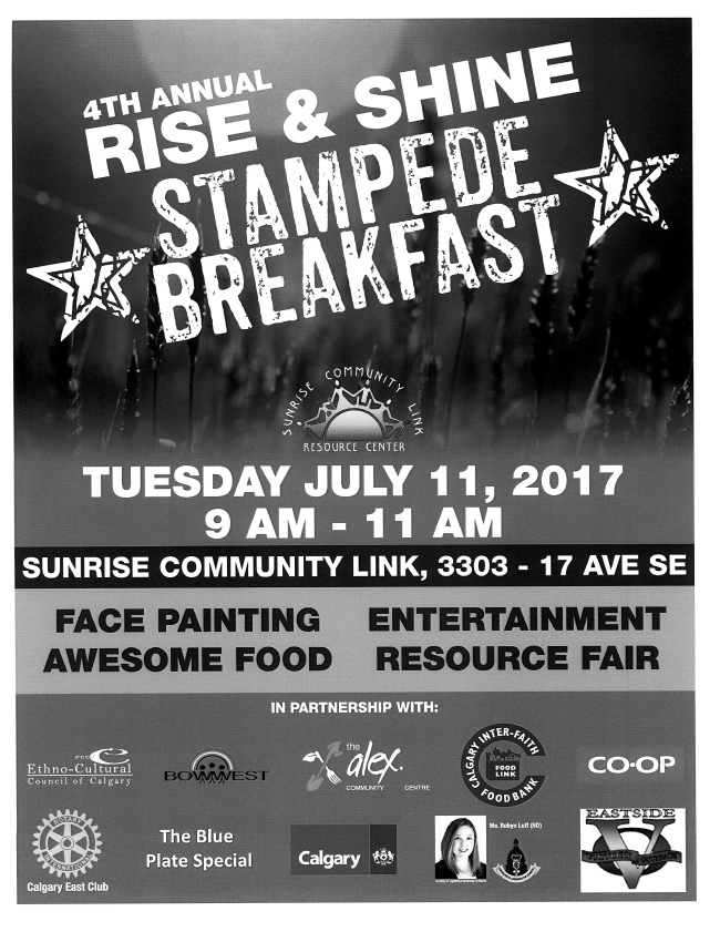 Rise and Shine Stampede Breakfast 2017