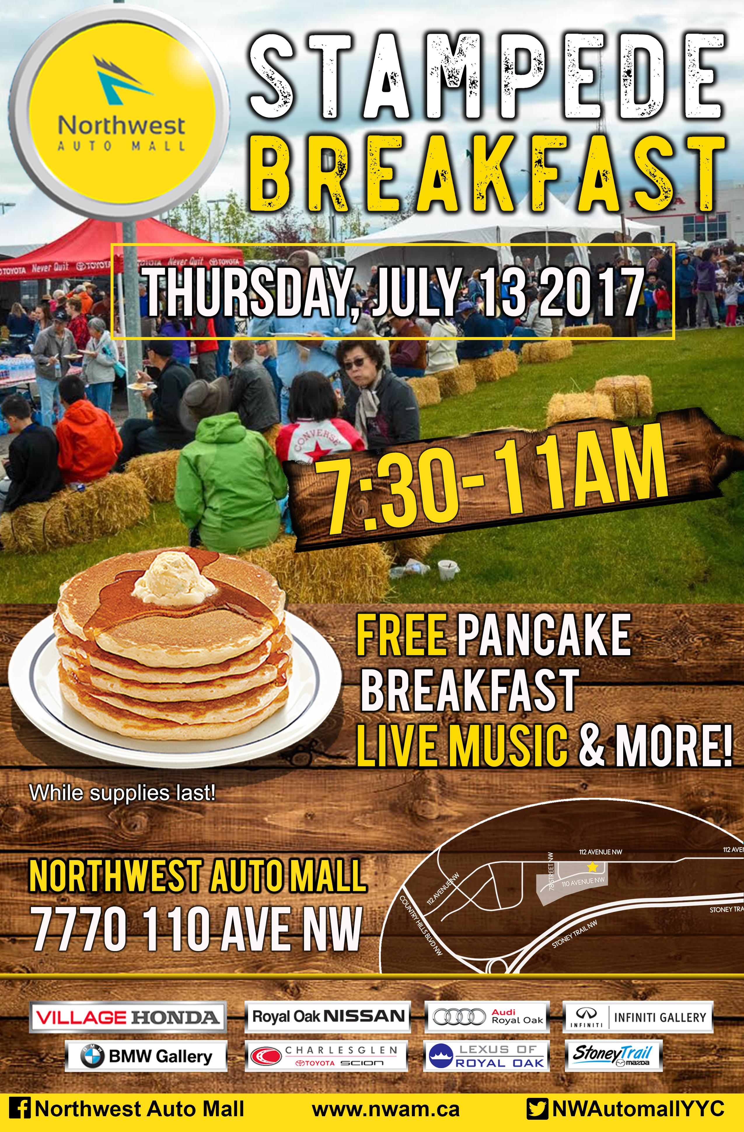 Northwest Auto Mall Stampede Breakfast 2017