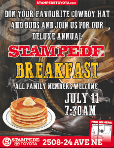 Stampede Toyota Stampede Breakfast 2017