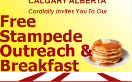 MFM Stampede Breakfast Outreach (Bowness) 2017