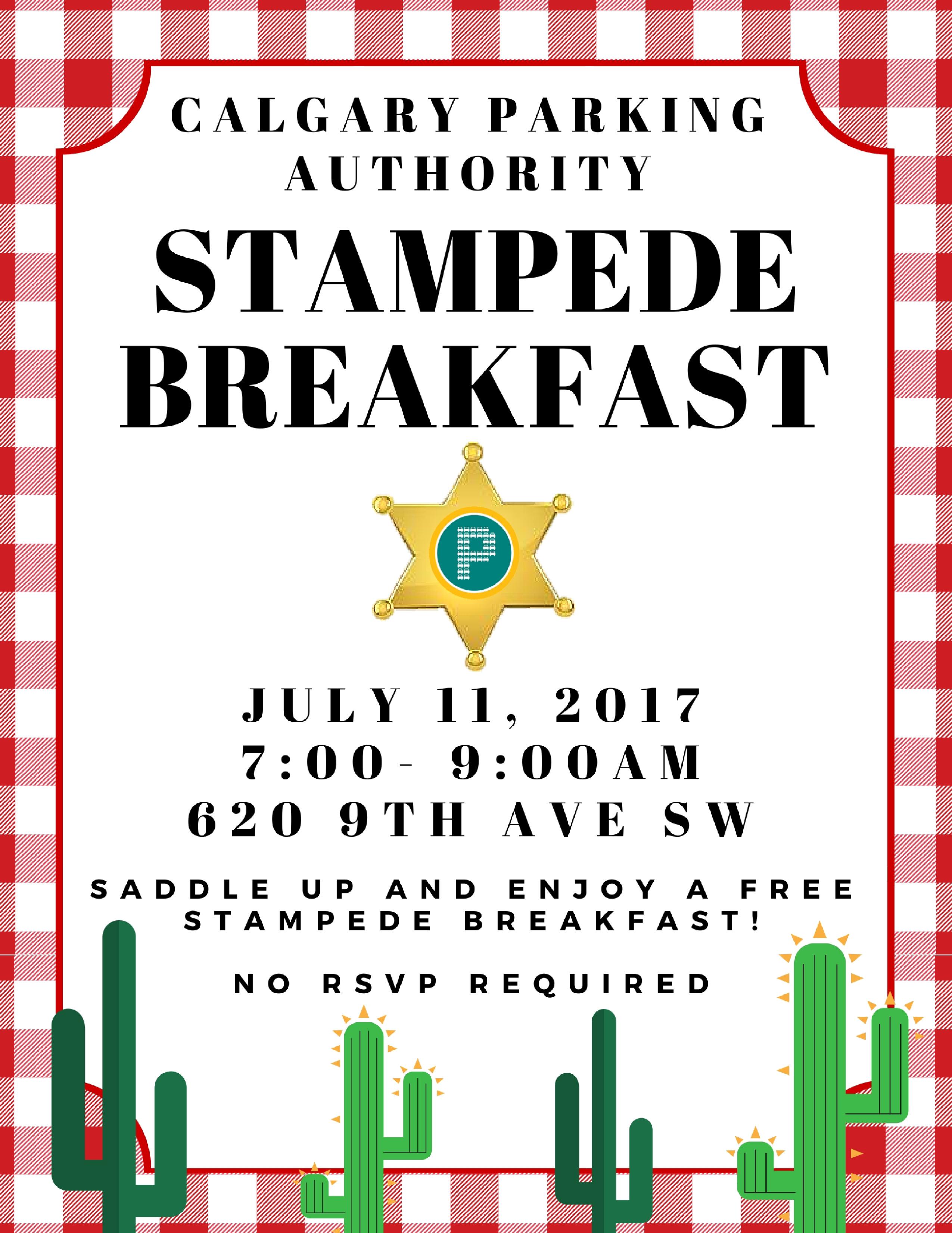 Calgary Parking Authority Stampede Breakfast 2017