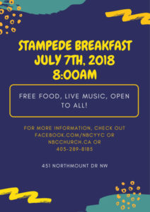 Northmount Stampede Pancake Breakfast 2018