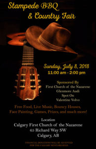 Calgary First Church of the Nazarene 2018 Stampede BBQ