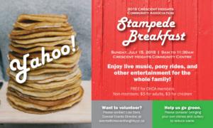 Crescent Heights Community Association Stampede breakfast 2018