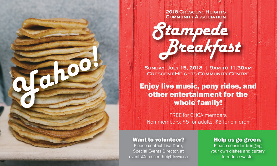 Crescent Heights Community Association Stampede breakfast 2018
