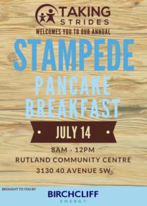 Taking Strides Stampede Breakfast 2018