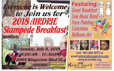 Airdrie Stampede Breakfast 2018