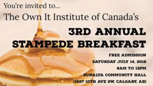 Own It's 3rd Annual Stampede Breakfast 2018