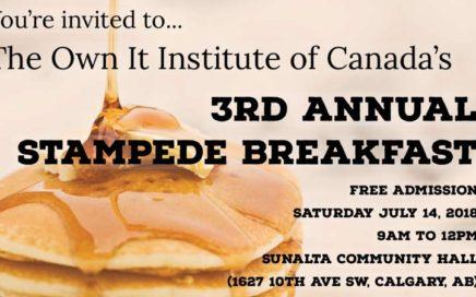 Own It's 3rd Annual Stampede Breakfast 2018