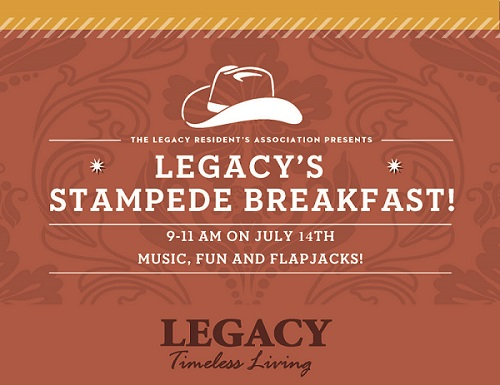 Legacy Residents Association Second Annual Stampede Breakfast 2018