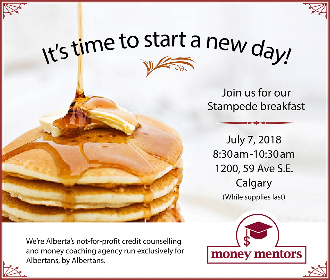 Money Mentors – FREE Stampede Breakfast 2018