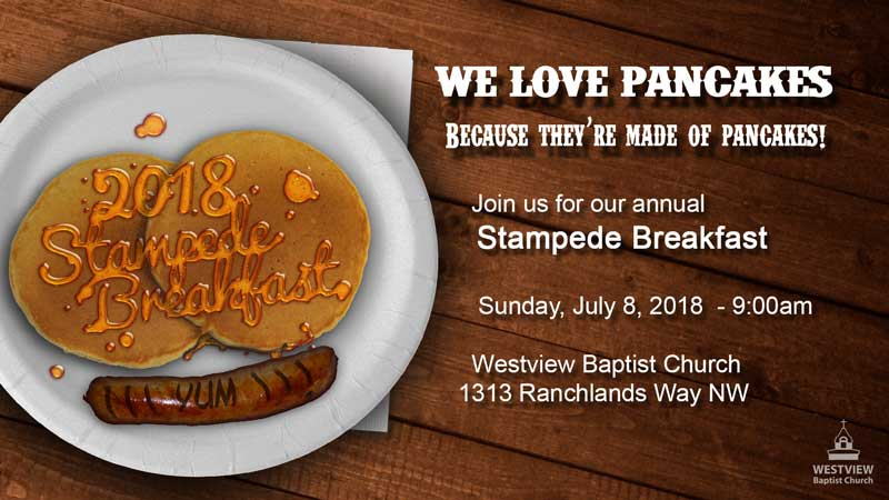 Westview Stampede Breakfast 2018