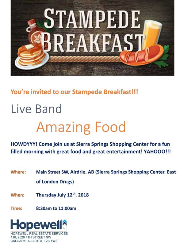 Sierra Springs Stampede Breakfast 2018