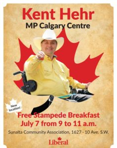 Kent Hehr MP Annual Stampede Breakfast 2018