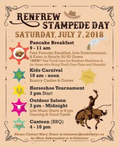 Renfrew Community Association Stampede Breakfast 2018