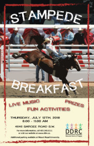 DDRC of Calgary Annual Stampede Breakfast 2018