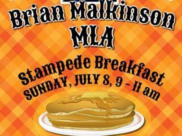 Brian Malkinson MLA Stampede Breakfast 2018