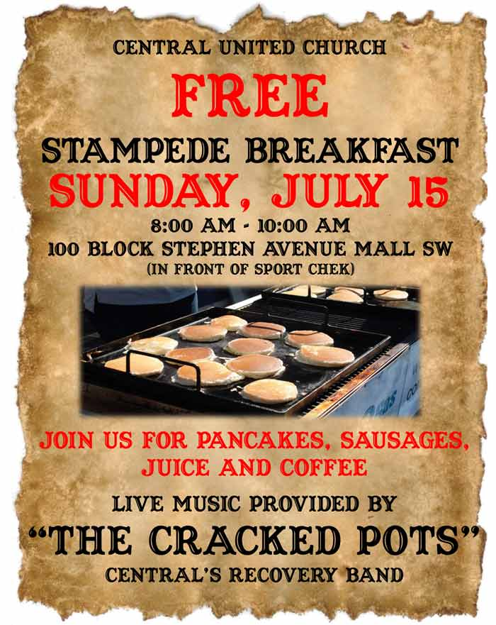 Central United Church Free Stampede Breakfast 2018