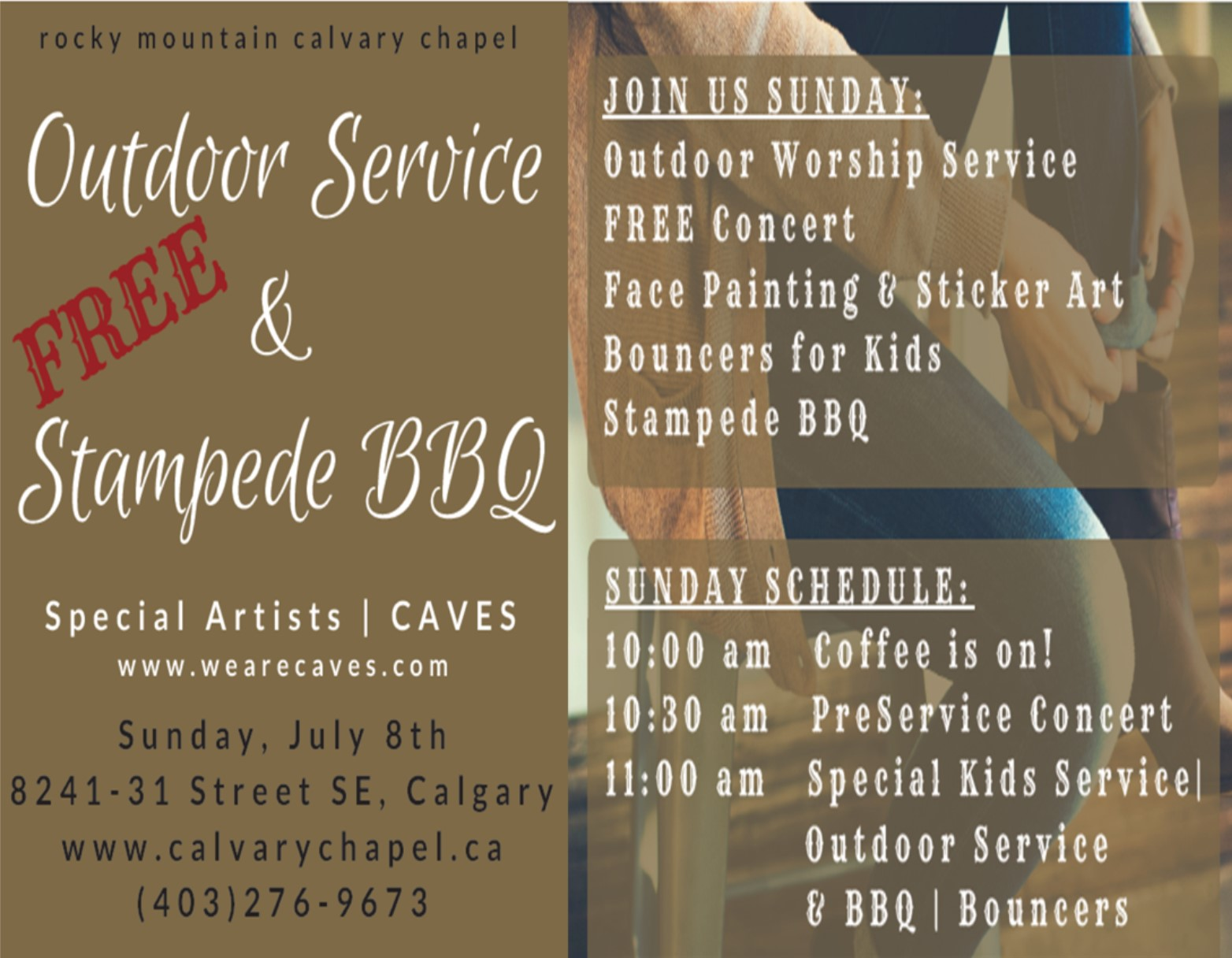 RMCC Outdoor Service and Stampede BBQ 2018