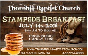 Thornhill Baptist Church Stampede Breakfast 2018