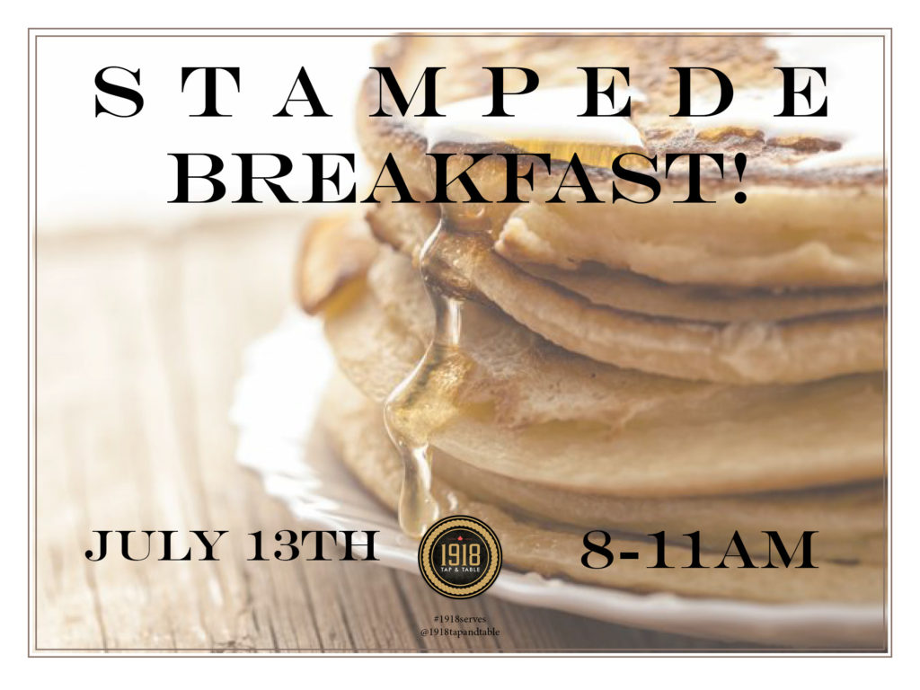 1918 Tap and Table Pancake Breakfast 2018