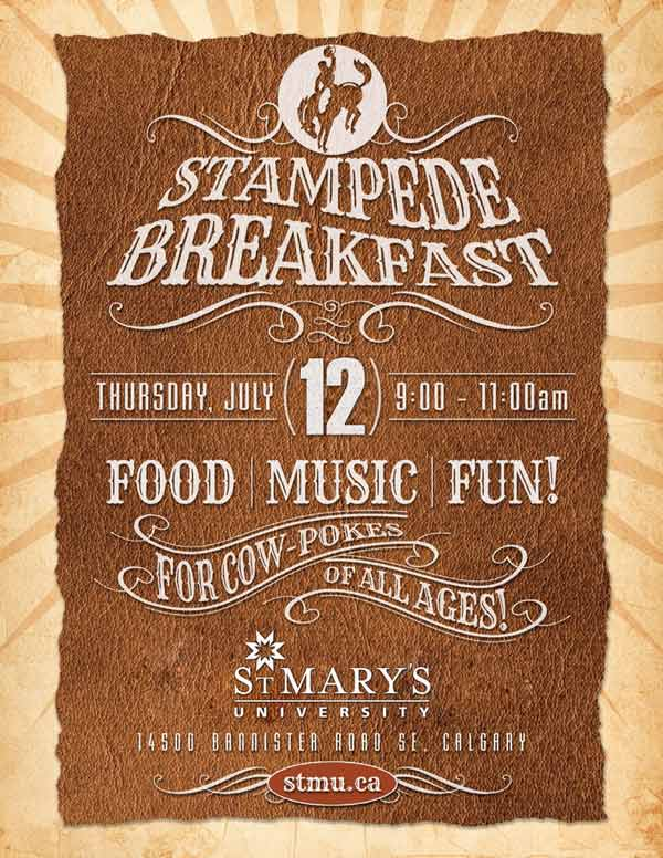 St. Mary's University's Stampede Breakfast 2018