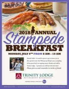 Trinity Lodge Stampede Breakfast 2018