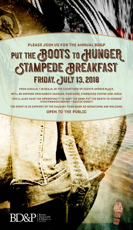BD&P Put the Boots to Hunger Stampede Breakfast 2018