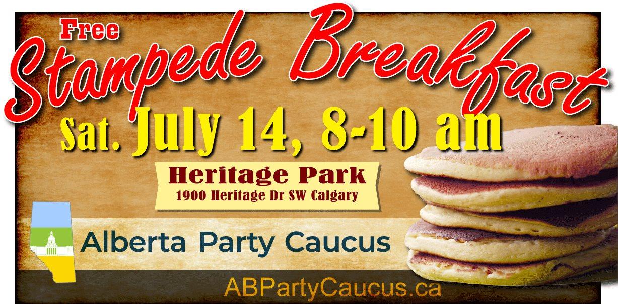 Alberta Party Caucus Stampede Breakfast 2018